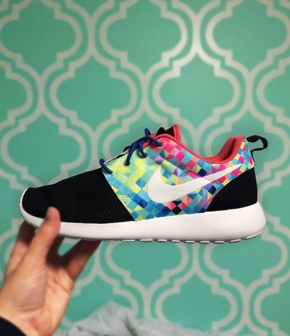 Custom Nike Roshe Run Prisma by SKLCustomShoes on Etsy
