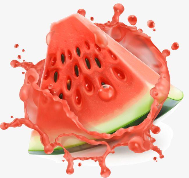 Hand Painted Splash Piece Of Watermelon Vector Watermelon Vector Fruit Splash Watermelon