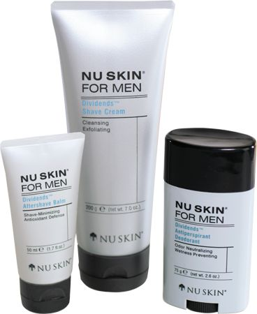 Nu Skin® for Men helps men maximize the return on their time invested getting ready for the day. This line of multi-functional products delivers extra skin care benefits without adding extra hassle. Same Routine. More Benefits.™ (www.nuskin.com/thesource)