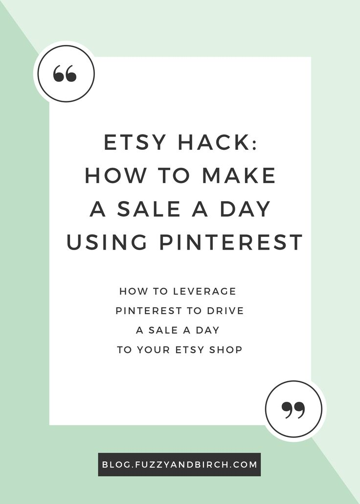 Imagine this: Your Etsy shop is getting HUNDREDS of hits per day via Pinterest, and the people who click through are EXCITED about your product.