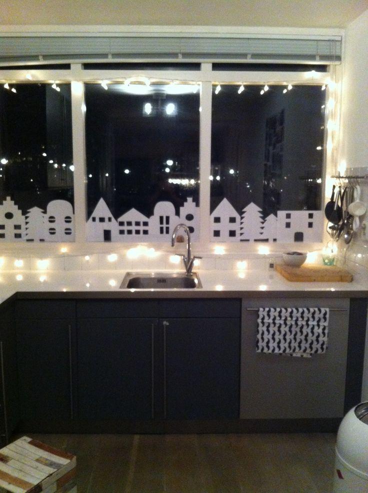 Afbeeldingsresultaat voor kerst raam decoratie