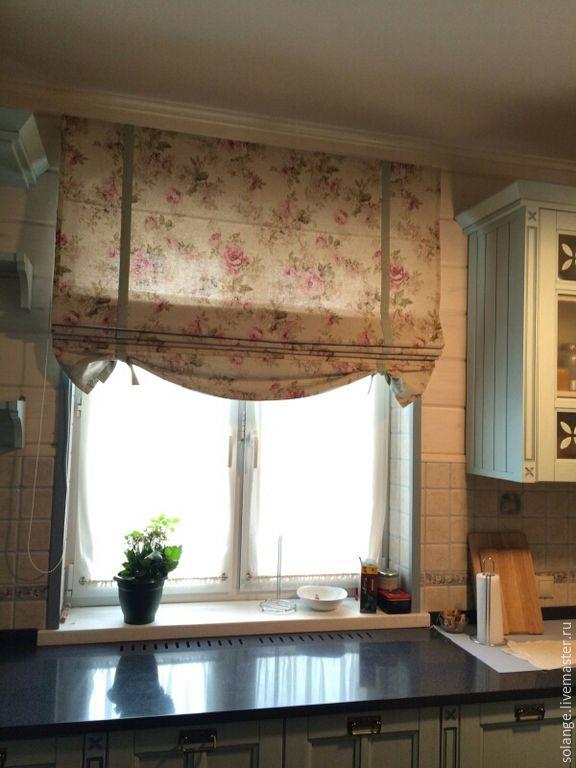 Купить Римские шторы для №26 - разноцветный, римская штора, кухонный интерьер, шторы на кухню