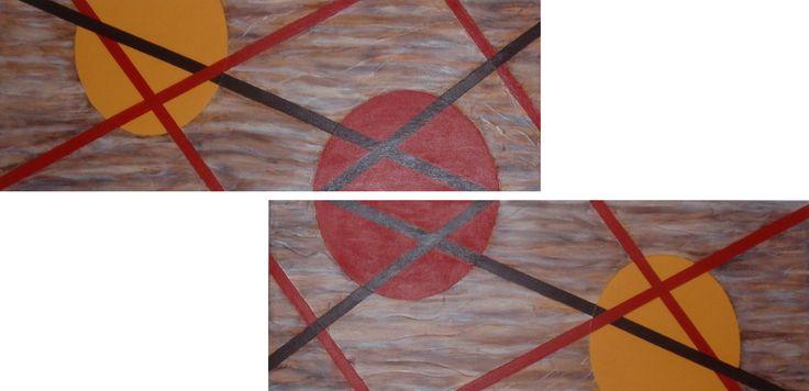 Quadro abstrato pintado em acrílico.