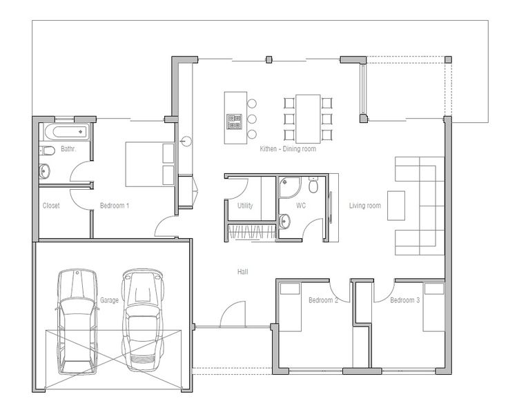 Modern Contemporary House Plan CH161 from ConceptHome.com. Minimalist design.