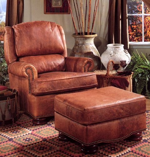 Marvelous Bradington Young Leather Chair And Ottoman | Leather Chairs U0026 Ottomans |  Pinterest | Ottomans, Leather Lounge And Leather Furniture