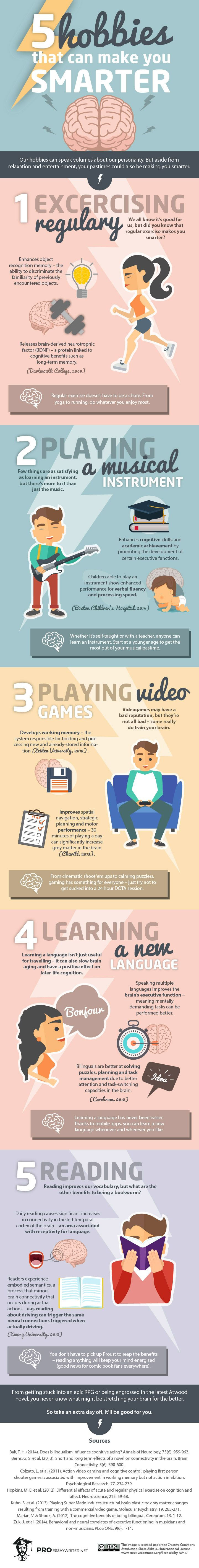 Enjoy your hobbies & become smarter in the process. Exercising regularly, reading and yes video games can help increase your logic skills as well as keep your moods at bay.(Positive psychology & wellbeing)