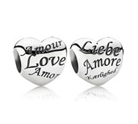 Pandora limited edition heart charm.: Languages, Gift, Pandora Jewelry, Pandora Bracelets, Pandora Charms, Sterling Silver, Pandora Heart, Engraving Heart, Heart Charms