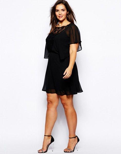 (Foto 11 de 27) 25 vestidos cortos para mujeres un poco más gorditas | HISPABODAS