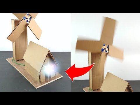 How to make working model of a wind turbine from cardboard I