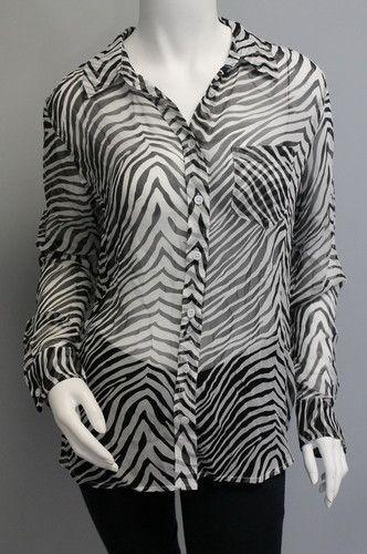 Zebra Print Sheer Blouse 106