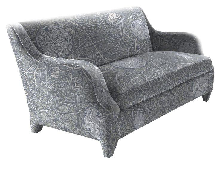 Sofa. Textile pattern by Savva
