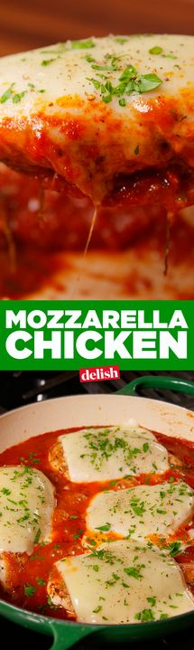 Mozzarella Chicken is basically low-carb chicken parm. Get the recipe from Delish.com.