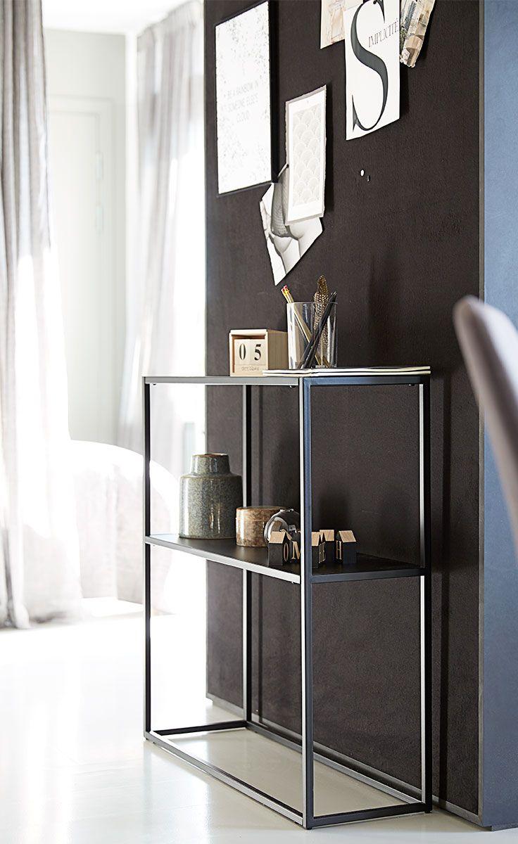 VIRUM reolen er en stilfuld tilføjelse til den luksuriøse Dark Deco-stil.