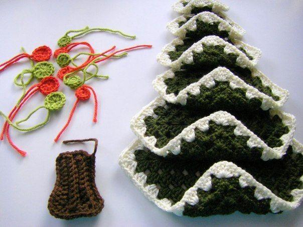 Delicadezas en crochet Gabriela: Árbol de navidad muy fácil