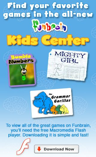 FunBrain.com - The Internet's #1 Education Site for K-8 Kids and Teachers - Funbrain.com
