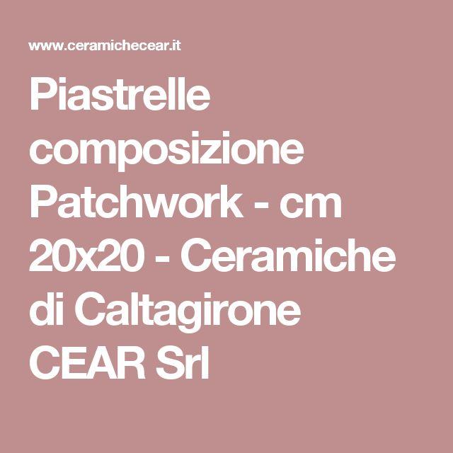 Piastrelle composizione Patchwork - cm 20x20 - Ceramiche di Caltagirone CEAR Srl