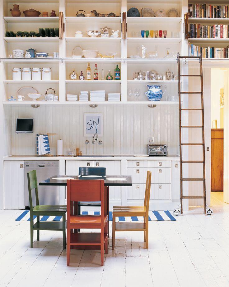 30 Organized Kitchens: Everyday inspiration for keeping your kitchen clutter-free, plus Martha Stewart's own kitchen organizing ideas.
