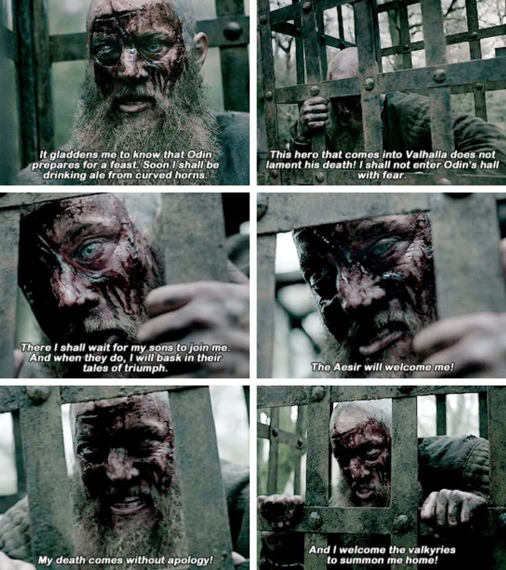 Ragnar coming to terms with his death.
