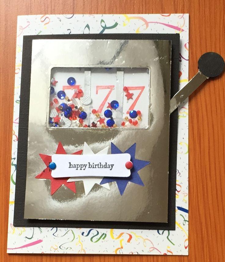 Fabulous Shaker Slot Machine Birthday Card With Moving