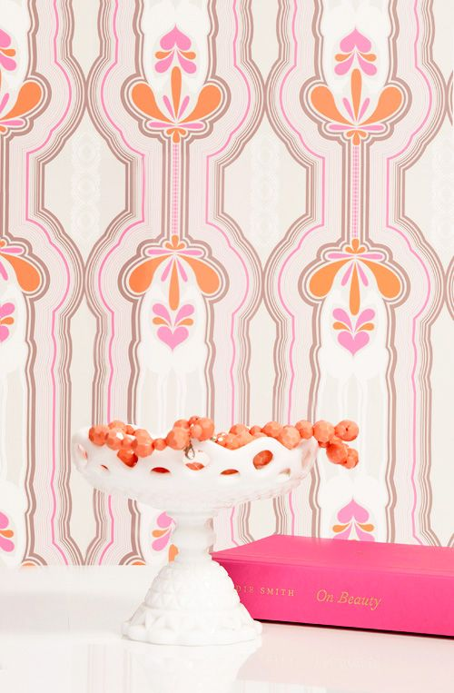 California Giraffe Stripes Wallpaper In Pink   Kreme On Joss And Main