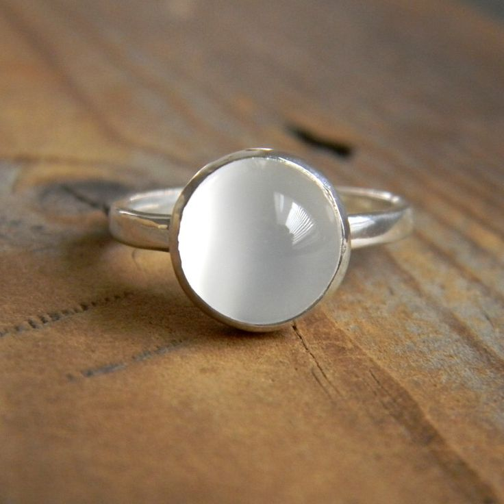 White Moonstone Ring, Bezel Moonstone Ring in Silver, Low Profile Gemstone Ring, Handcrafted Moonstone Jewelry by onegarnetgirl on Etsy https://www.etsy.com/listing/64082242/white-moonstone-ring-bezel-moonstone