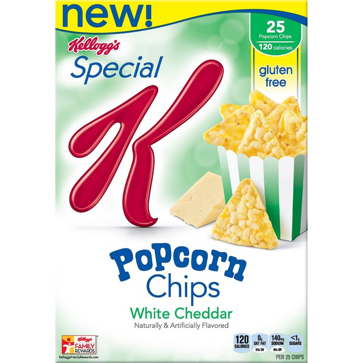 Special K Popcorn Chips White Cheddar Crackers - 4.5 oz - Kellogg's