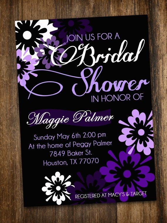 Purple Bridal Shower Invite