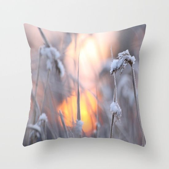 Sunny Winter Day #decor #buyart #society6 Throw Pillow