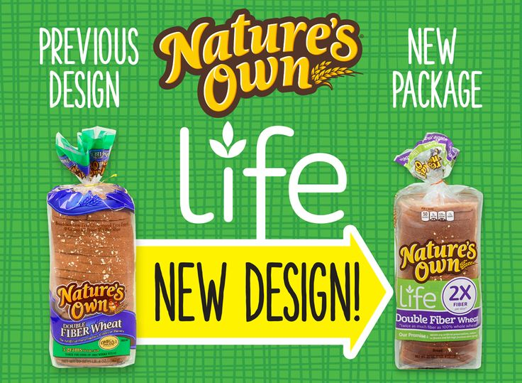 Nature's Own Life Double Fiber Wheat has twice the fiber of a slice of 100% whole wheat bread. Most Americans don't have enough fiber in their diets, so our Double Fiber Wheat is a delicious way to boost your daily fiber intake. Find new Nature's Own Life in your local grocery store!