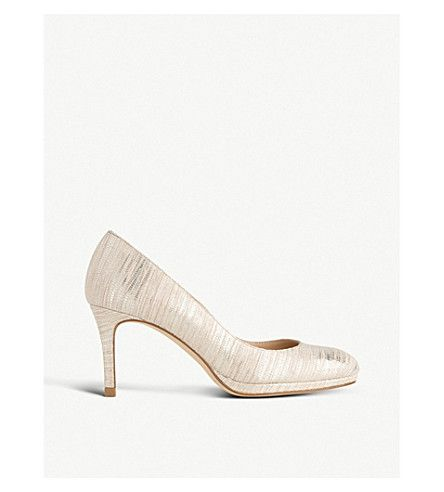 LK BENNETT | Sybila lizard-effect metallic courts #Shoes #Heels #Courts #Mid heel #LK BENNETT