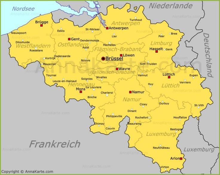 Belgien Karte