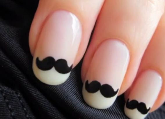 mustache nails! <3