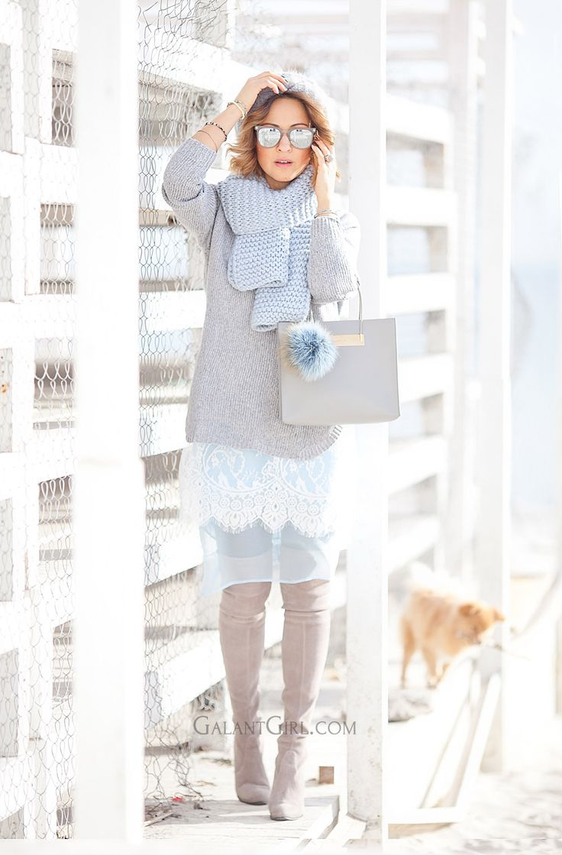 perfect+pastel+colors+outfit-with-balenciaga+shopper+bag серый голубой кружево слои
