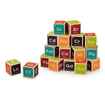 Look what I found at UncommonGoods: Periodic Table Building Blocks for $32.95