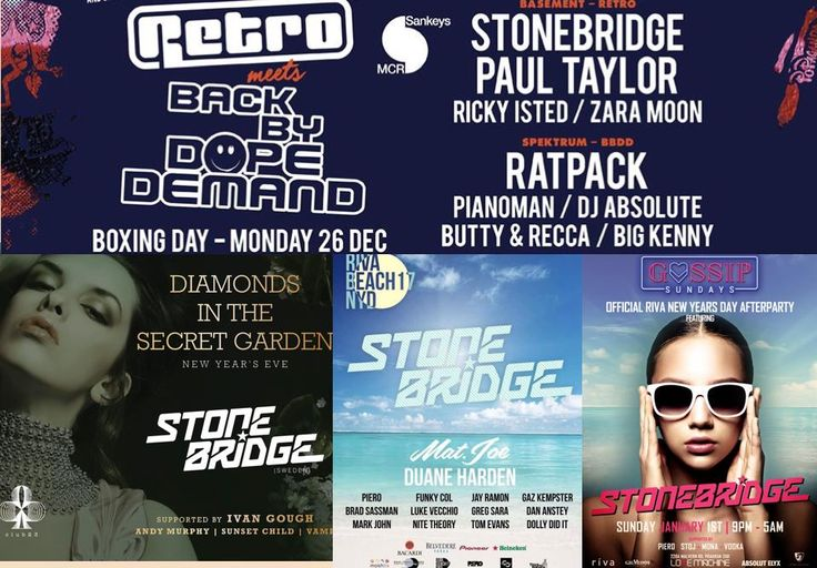 Christmas & NYE tour kicking off with Retro at Sankey's Manchester Dec 26, then off to Melbourne Australia for three events NYE and NYD - gonna be so much fun!! #stonebridge #tour