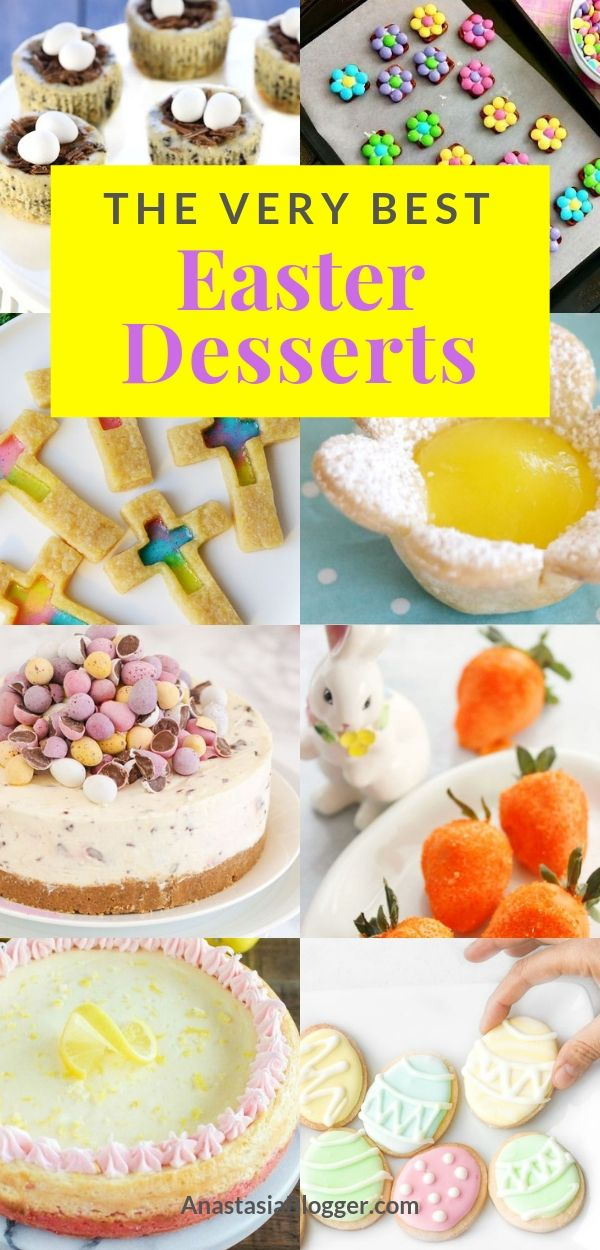 14 Easy Easter Dessert Recipes Best Ideas For Kids And For A