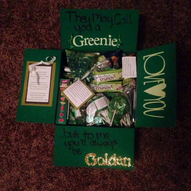Greenie package // care package idea // missionary mail // greenie // missionary