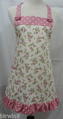 Apron! Handmade, original design. Flirty apron with big ruffle.
