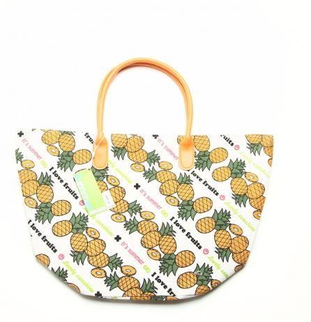 Geantă de damă de plajă din pânză cu sac în interior (31/33/16 cm)