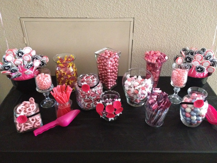 Zebra And Pink Themed Candy Buffet Candy Was From Amazon
