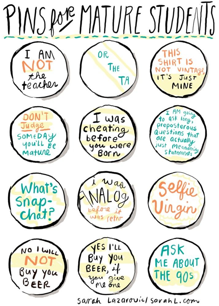 Pins for Mature Students