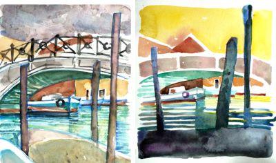 Mine akvareller fra Malerejsen 2016/Murano