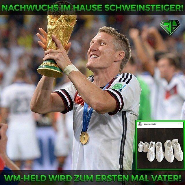 Unser WM-Held wird zum ersten Mal Vater! Sowohl @bastianschweinsteiger als auch seine Frau Ana haben heute auf Instagram bekannt gegeben dass sie Nachwuchs erwarten! Wir freuen uns natürlich sehr für die beiden möchten ihnen viel Glück wünschen und herzlich gratulieren! Bildrechte: imago #glück #luck #love #bs31 #schweini #schweinsteiger #ivanovic #ana #congratulation #glückwunsch #diemannschaft #wm #world #cup #weltmeister #legende #fcb #fcbayern #münchen #chicago #dfb #matchday #football…