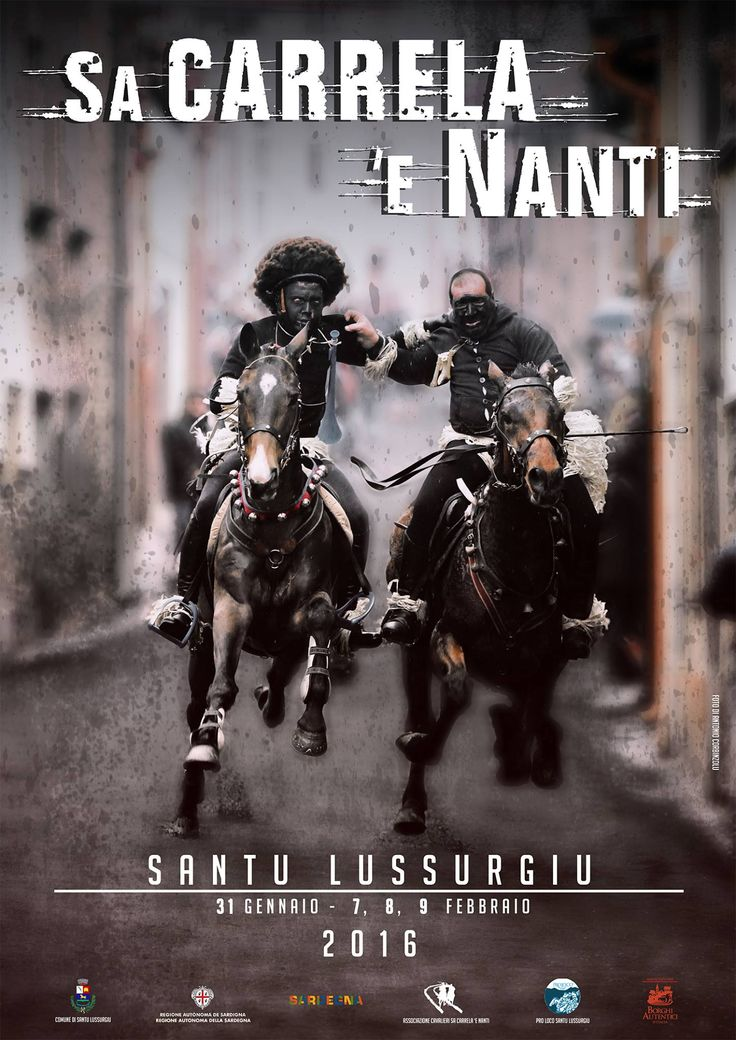 """[Oristano] Sa Carrela 'e nanti horse race held during Carnival season @ Santu Lussurgiu // """"Sa Carrela e' Nanti"""" is the name of a dirt road which is located on the historical center of Santu Lussurgiu town. The route is characterized by bends and narrow passages,that make the race unique and exciting #sardegna  #sardinia #italy #italia #tradition #culture #santulussurgiu"""