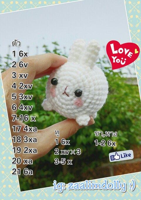 free pattern rabbit bunny amigurumi by zaalimdolly