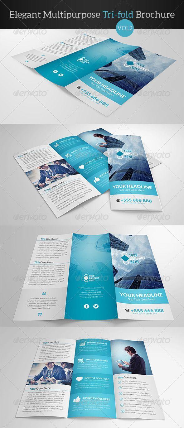 Elegant Multipurpose Trifold Brochure Vol 2 Corporate