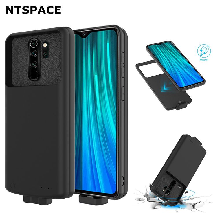 Ntspace 7000mah Backup Power Bank Case For Xiaomi Redmi Note 8 Pro Battery Charger Cover For Redmi Note 8 Power Phone Battery Charger Power Bank Case Powerbank
