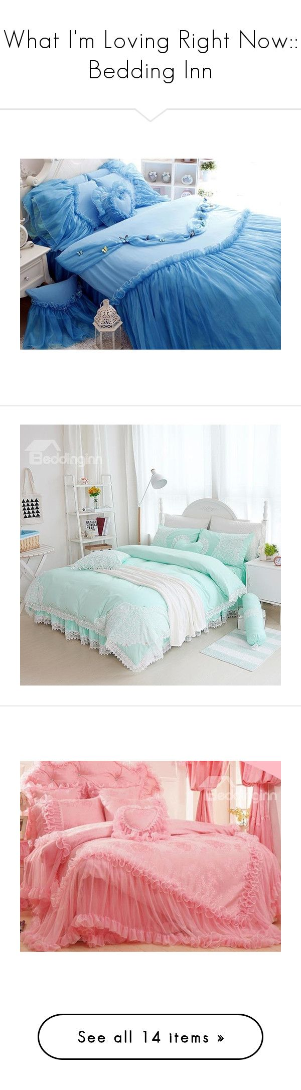 """""""What I'm Loving Right Now:: Bedding Inn"""" by sbhackney ❤ liked on Polyvore featuring home, bed & bath, bedding, duvet covers, cotton duvet sets, lace bedding sets, cotton bedding, cotton bed set, cotton duvet cover set and children's room"""