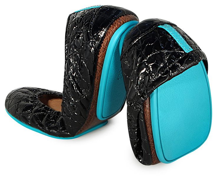 Tieks By Gavrieli-Obsidian Black, Made out of real Italian Leather for the modern woman. Throw them in your purse or wear them daily.