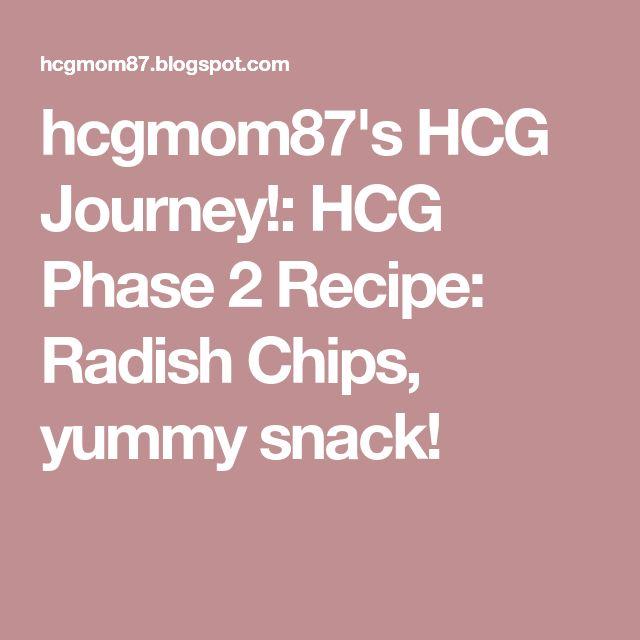 hcgmom87's HCG Journey!: HCG Phase 2 Recipe: Radish Chips, yummy snack!